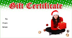 Gift Certificate Template Christmas 01