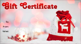 Gift Certificate Template Christmas 02