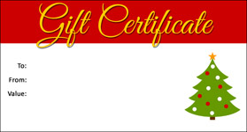 Gift template select a gift certificate template to customize christmas template 04 gift certificate template christmas 04 yelopaper Image collections