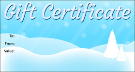 Christmas Template 05 · Gift Certificate Template Christmas 05