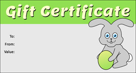 Gift template select a gift certificate template to customize easter template 02 gift certificate template easter 02 negle Images