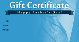 Gift Certificate Father's Day 01