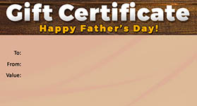 Gift template select a gift certificate template to customize fathers day template 03 gift certificate fathers day 03 yelopaper Images