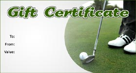 Gift Certificate Template Golf 01