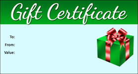 Gift Certificate Template Holiday 01