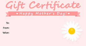 Gift Certificate Mother's Day 01
