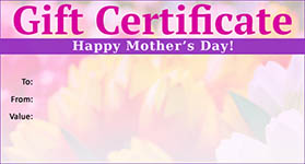 Gift template select a gift certificate template to customize mothers day template 03 gift certificate mothers day 03 yadclub Choice Image