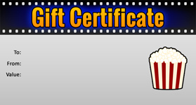 Gift template select a gift certificate template to customize movie template 01 gift certificate template movie 01 negle Images