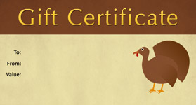 Gift template select a gift certificate template to customize gift certificate template thanksgiving 01 yadclub Images