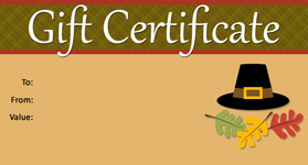 gift template select a gift certificate template to customize