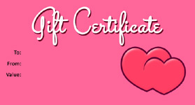 Valentines Template 02 Gift Certificate