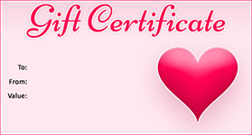 Valentines Template 03 · Gift Certificate Template Valentines 03  Gift Certificate Templete