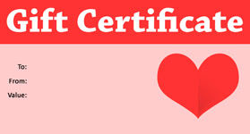 Valentines Template 04 Gift Certificate